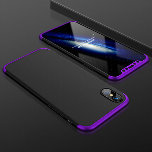 Purple hard back case with  Glass Screen Protector For  Apple iPhone  11 Pro