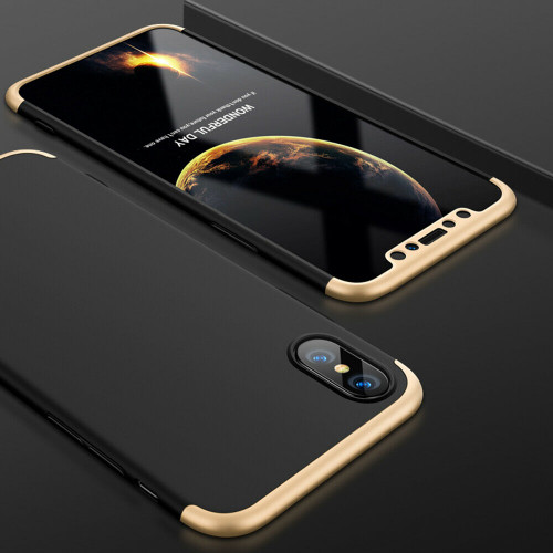 Gold hard back case with  Glass Screen Protector For  Apple iPhone  11 Pro