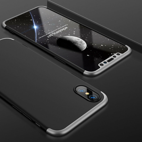 Silver hard back case with  Glass Screen Protector For  Apple iPhone  11 Pro