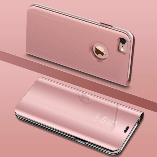 Rose gold Smart View Mirror Leather Flip Stand Case Cover For iPhone 11 Pro