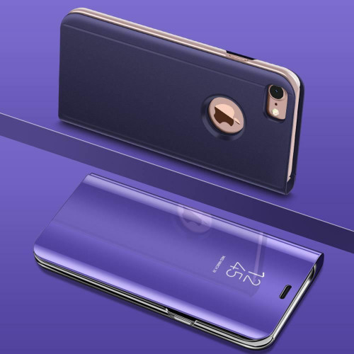 Purple Smart View Mirror Leather Flip Stand Case Cover For iPhone 11 Pro