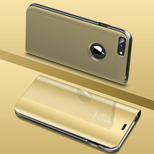 Gold Smart View Mirror Leather Flip Stand Case Cover For iPhone 11 Pro