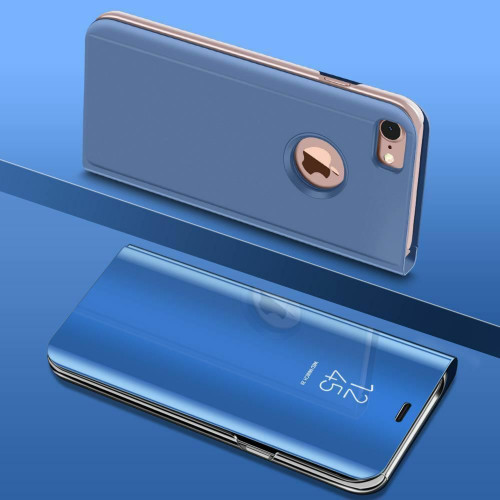 Blue Smart View Mirror Leather Flip Stand Case Cover For iPhone 11 Pro