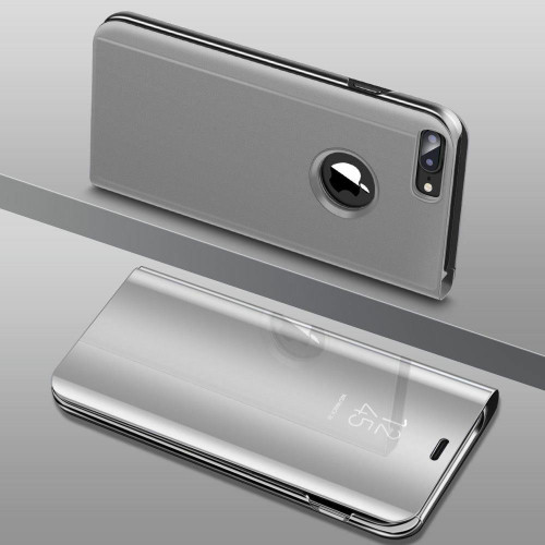 Silver Smart View Mirror Leather Flip Stand Case Cover For iPhone 11 Pro