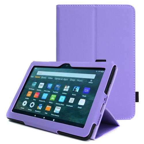 Amazon Kindle Fire HD 8 Plus Tablet 2020 Premium Slim Leather Flip Smart Stand Case purple Cover