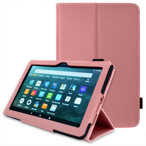 Amazon Kindle Fire HD 8 Plus Tablet 2020 Premium Slim Leather Flip Smart Stand Case plum Cover