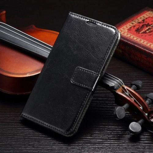 Black PU Leather Wallet with Card Holder for Samsung Galaxy S3