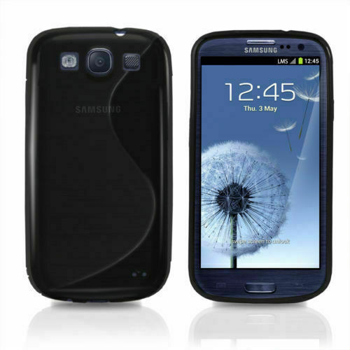 S-Line Silicon Gel Shockproof Case For Samsung Galaxy S3 and Free SP