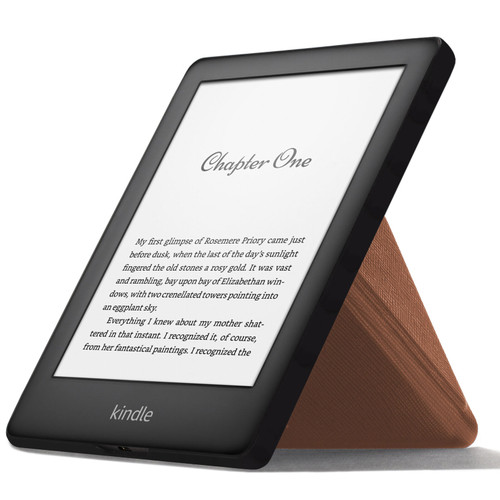 Brown FC Kindle 2019 Case | Cover Stand Origami | Slim & Light + Stylus Protector