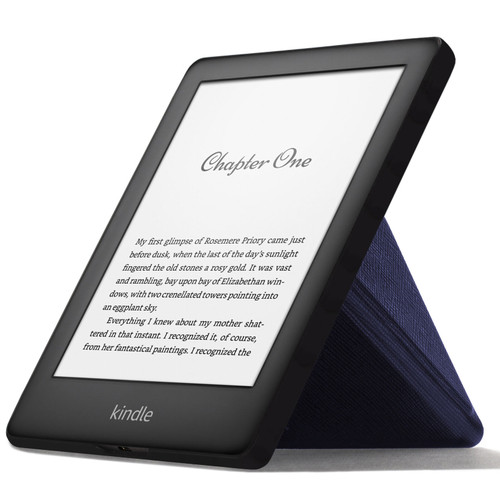 Navy FC Kindle 2019 Case | Cover Stand Origami | Slim & Light + Stylus Protector
