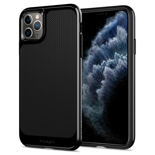 Black iPhone 11 Pro Case, Spigen Neo Hybrid Shockproof Protective Cover