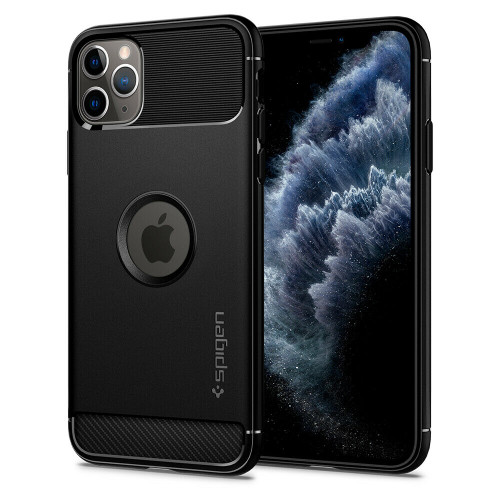 iPhone 11 Pro Case Spigen Rugged Armor Shockproof Protective Cover - Matte Black