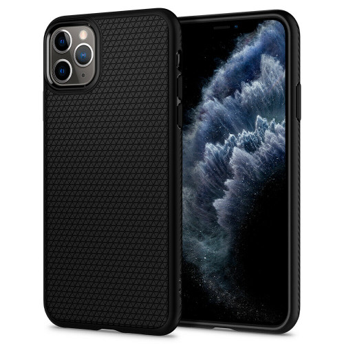 iPhone 11 Pro Case, Spigen Liquid Air Slim TPU Protective Cover - Matte Black