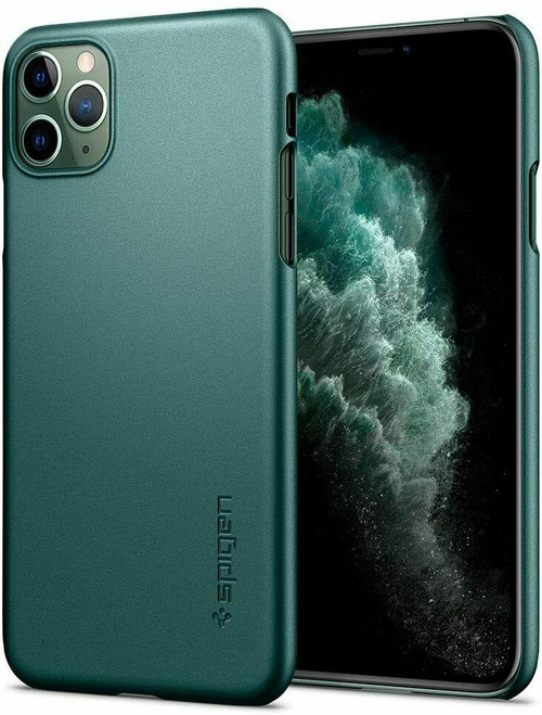 iPhone 11 Pro Max Case, Spigen Thin Fit Extremely Thin Cover - Midnight Green