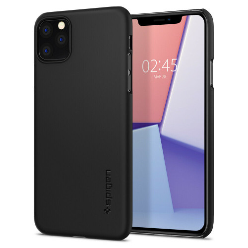 iPhone 11 Pro Max Case Spigen Thin Fit Extremely Thin Protective Cover - Black