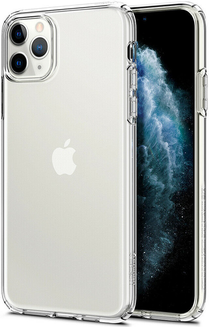 iPhone 11 Pro Max Case Spigen Liquid Crystal Flexible Cover - Crystal Clear