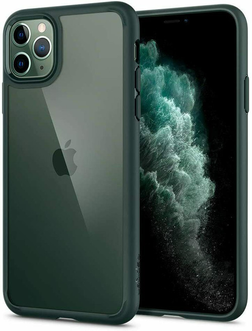 Midnight green iPhone 11 Pro Max Case Spigen Ultra Hybrid Protective Slim Clear Cover