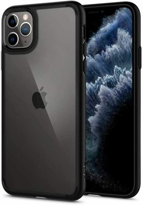 Matt black iPhone 11 Pro Max Case Spigen Ultra Hybrid Protective Slim Clear Cover