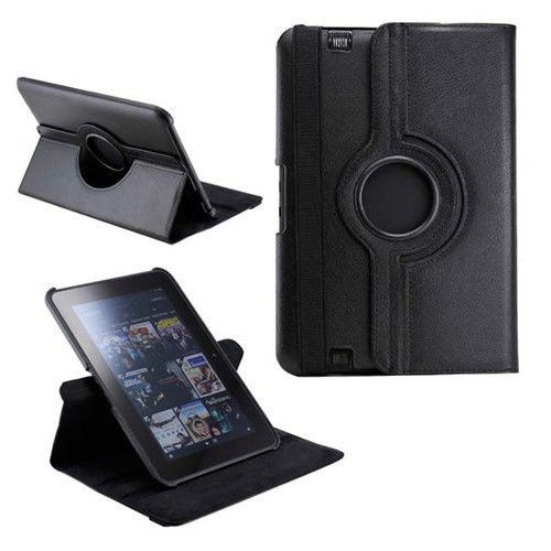 Black PU Leather 360 Rotating Case for Kindle Fire HD 8.9(2012)