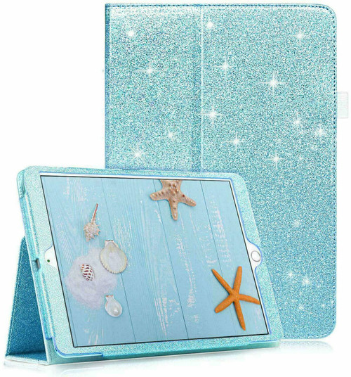 Sky blue Glitter Case Cover For iPad 10.2 8th 2020