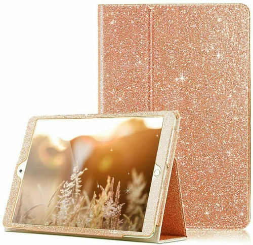 Rose gold Glitter Case Cover For iPad 10.2 8th 2020