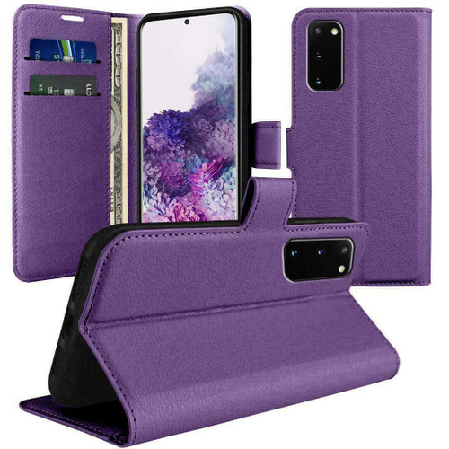 of For Samsung S21 Flip Wallet Leather Magnetic purple case