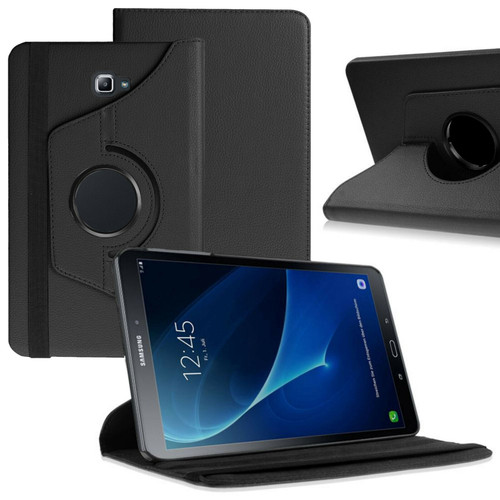 Black PU Leather 360 Rotating Case for Samsung Galaxy Tab 4 8.0 (T330/T331/T335)