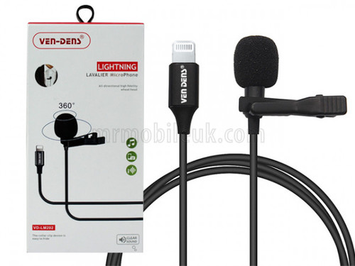 VD-LM202 Lavalier Microphone to 8 Pin - Black
