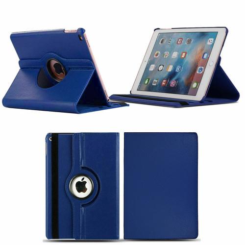 Apple iPad Mini 1 2 3 blue PU Leather 360 Rotating Case