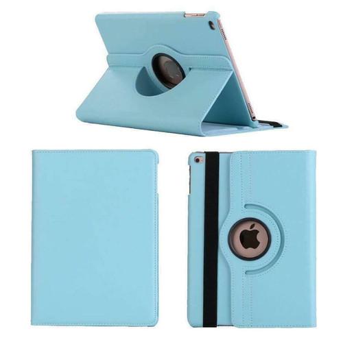 Apple iPad Mini 1 2 3 sky blue PU Leather 360 Rotating Case