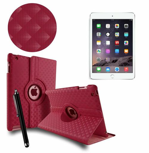 Purple 3D Diamond PU Leather 360 Rotating Smart Case Apple iPad MINI 123