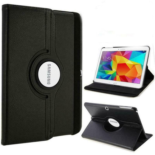Black PU Leather 360 Rotating Case for Samsung Galaxy Tab PRO 10.1 (T520/T525)