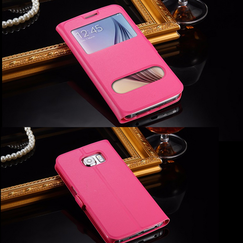 Samsung Galaxy S5 Mini  pink  Double Window View Case Cover