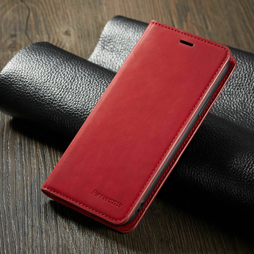 Samsung Galaxy S7 Edge Red Ultra Slim Leather Wallet stand Case