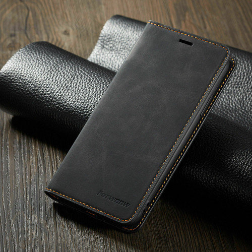 Samsung Galaxy S7 Edge Black Ultra Slim Leather Wallet stand Case