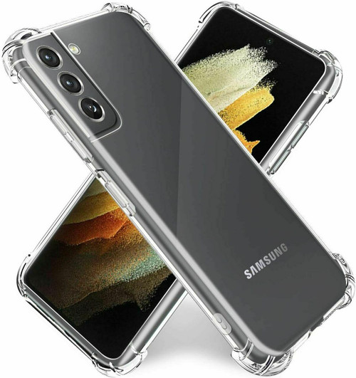 For Samsung Galaxy S21 plus 5G Clear Shockproof Bumper Gel Case