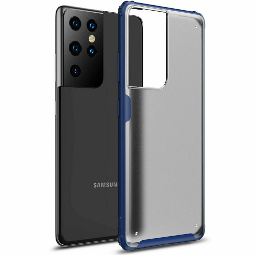 For Samsung S21 ultra  5G blue Premium Slim Tough Hard Back Case Cover