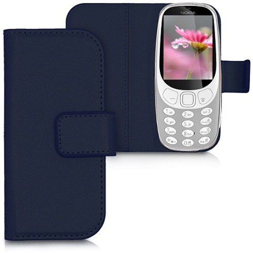 Black PU Leather Wallet Case Flip Cover for Nokia 3310 (2017)