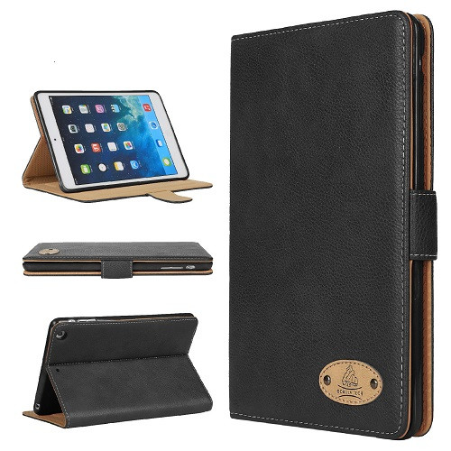 Gorilla Tech Leather black with Kickstand Magnetic Case for  Apple iPad 9.7 2017 2018