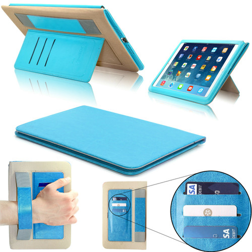 Turquoise  magnetic Hands trap Smart Flip Cover Stand Wallet Leather Case For iPad 9.7 2017 2018