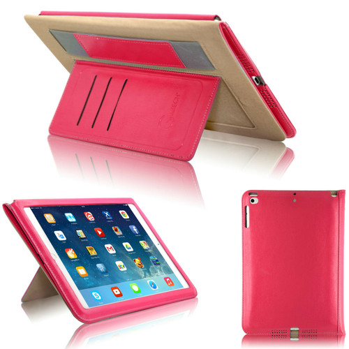 Pink  magnetic Hands trap Smart Flip Cover Stand Wallet Leather Case For iPad 9.7 2017 2018