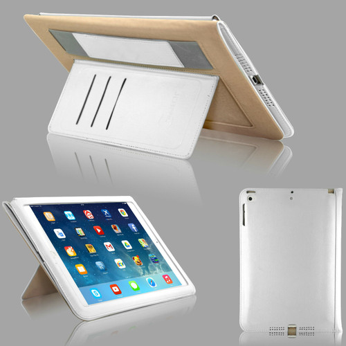 White  magnetic Hands trap Smart Flip Cover Stand Wallet Leather Case For iPad 9.7 2017 2018