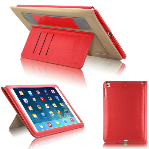 Red magnetic Hands trap Smart Flip Cover Stand Wallet Leather Case For iPad 9.7 2017 2018