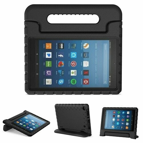 Kindle fire HD 8(2020) 10th Generation Kids Builder Shockproof Eva Foam With Alexa Stand Case
