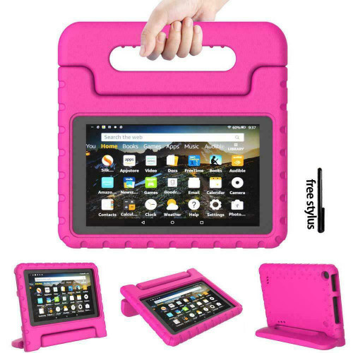Kindle fire HD 8(2020) 10th Generation Kids Rose Builder Shockproof Eva Foam With Alexa Stand Case