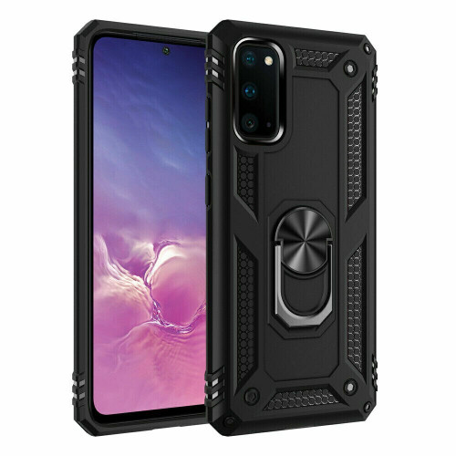 Black Shockproof Armor Case Cover For Samsung Galaxy s21 ultra with screen protector