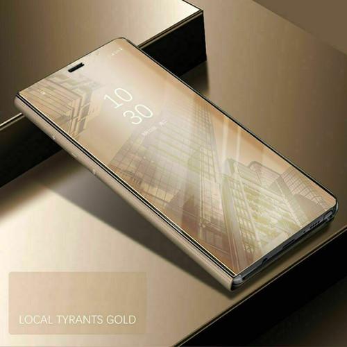 Samsung galaxy s21 plus gold View Mirror Flip Stand Phone Case