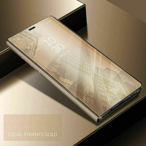 Samsung galaxy s21 ultra gold View Mirror Flip Stand Phone Case