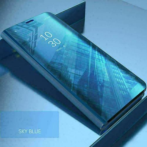 Samsung galaxy s21 ultra blue View Mirror Flip Stand Phone Case