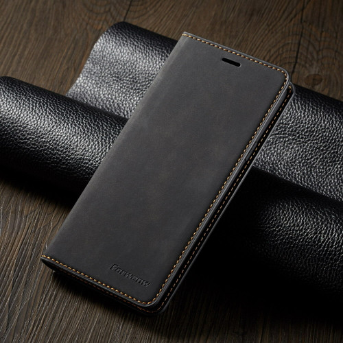 For Samsung S21 ultra  black Leather Wallet Flip Case Card Stand Shockproof Cover
